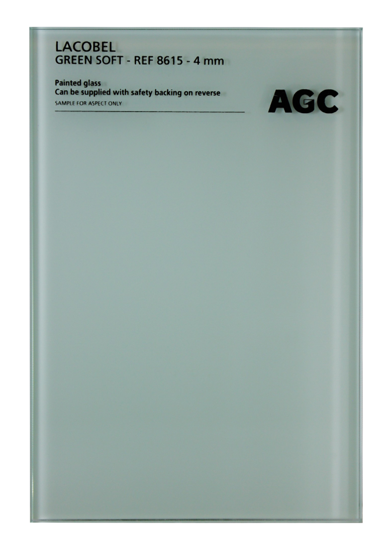 3103326 - AGC cтекло LACOBEL RAL8615 Green Soft 2550*1605*4мм